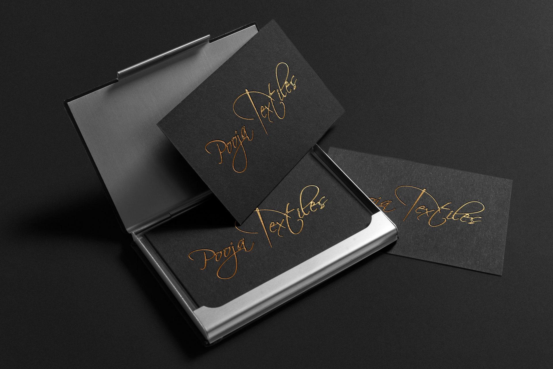 Pooja-Textiles - Graphic Design Portfolio